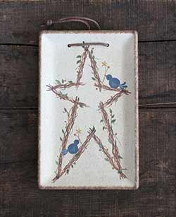 Bluebirds & Branches Hanging Tray with Star