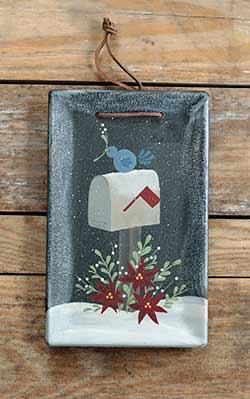 Winter Mailbox Hanging Tray