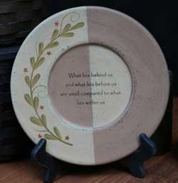 Star Garland Inspirational Plate