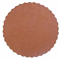 Burgundy Check Tablecloth - Round (70 inch)