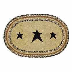 Kettle Grove Braided Placemats with Stars (Set of 6)