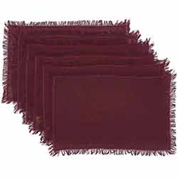 Tobacco Cloth Merlot Placemats (Set of 6)
