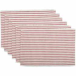 Audrey Red Ribbed Placemats (Set of 6)