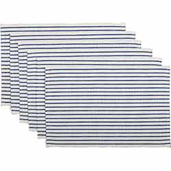 Audrey Blue Ribbed Placemats (Set of 6)