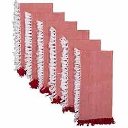 Harmony Red Napkins (Set of 6)