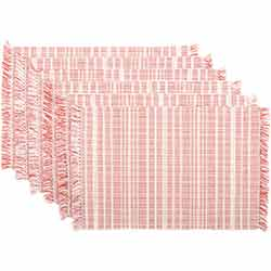 Madeline Red Ribbed Placemats (Set of 6)