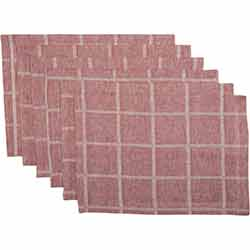 Julie Red Plaid Placemats (Set of 6)