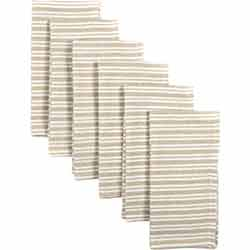 Classic Stripe Taupe Napkins (Set of 6)