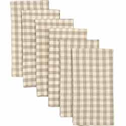 Katie Taupe Napkins (Set of 6)