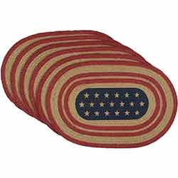 Liberty Stars Flag Braided Placemats (Set of 6)