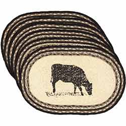 Sawyer Mill Cow Braided Placemats (Set of 6)