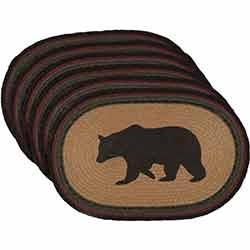 Wyatt Bear Braided Placemats (Set of 6)