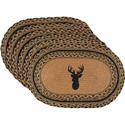 Trophy Mount Braided Placemats (Set of 6)