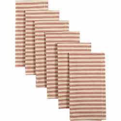 Kendra Stripe Red Napkins (Set of 6)