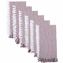 Ashton Burgundy Napkins (Set of 6)