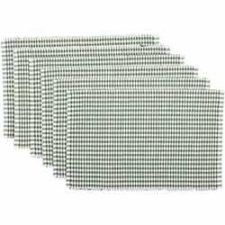 Tara Green Ribbed Placemats (Set of 6)