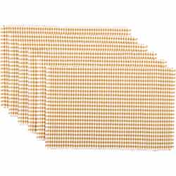Tara Gold Ribbed Placemats (Set of 6)