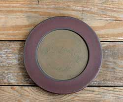 Burgundy & Mustard Distressed Plate - 9.5 inch