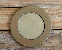 Mustard & Ivory Distressed Plate - 9.5 inch