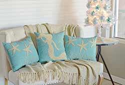 Nerine Seas & Greetings Pillows (Set of 3)