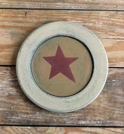 Ivory & Mustard Plate with Star - 8.5 inch