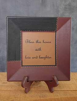 Love & Laughter Primitive Plate