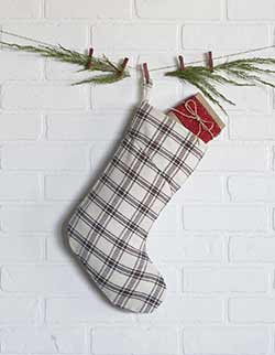 Amory Plaid Christmas Stocking