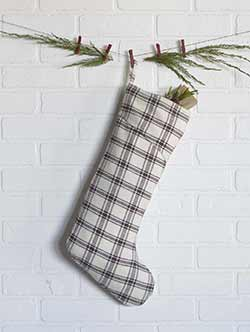 Amory Plaid Christmas Stocking - Long