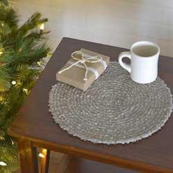 Dyani Silver Round Placemats (Set of 6)