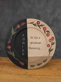 Family Blessing Primitive Plate