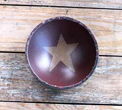 Chippy Paint Bowl with Mustard Star