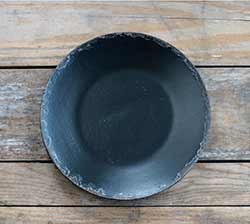 Black Chippy Paint Wood Plate