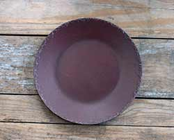 Burgundy Chippy Paint Wood Plate