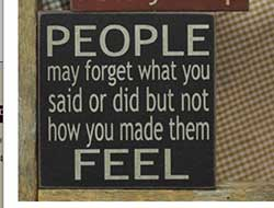 People May Forget Sign