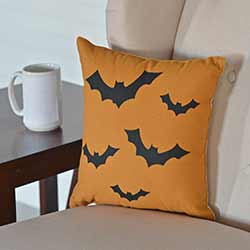Halloween Bats Decorative Pillow
