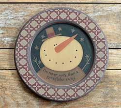 A Snowflake Away Vintage Plate