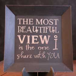 Beautiful View Square Plate