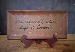 What Happens at Grandma's Primitive Tray