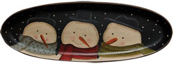 Snow Buddies Oval Tray