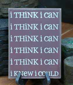 I Think I Can Wall Plaque - Burgundy