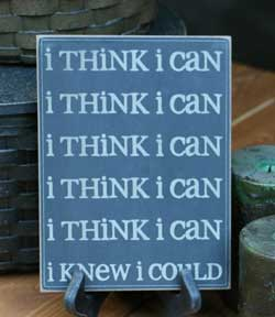 I Think I Can Wall Plaque - Black