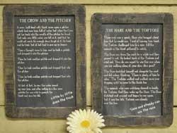 Hare and the Tortoise Folk Tale Blackboard