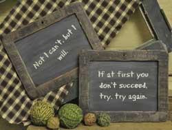 Try Try Again Small Blackboard