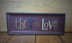Key is Love Wooden Tray