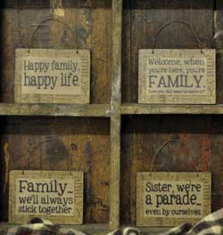 Family Hanging Ornaments (Set of 4)