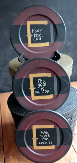 Fear the Coal Plates (Set of 3)