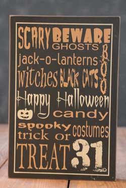 Happy Halloween Box Sign - Black