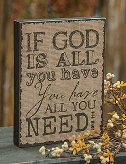 God Vintage Standing Box Sign