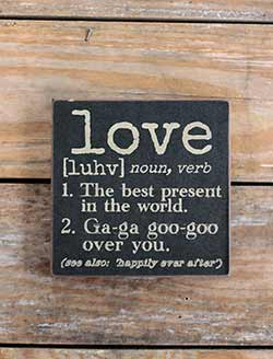 Love Definition Wood Sign