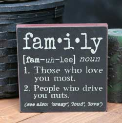 Family Definition Sign
